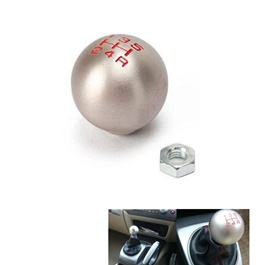 Mugen Silver Round Gear Shift Knob For Auto  with Red Numbers-SehgalMotors.Pk
