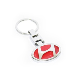 Hyundai Metal Key Chain / Key Ring - Red-SehgalMotors.Pk