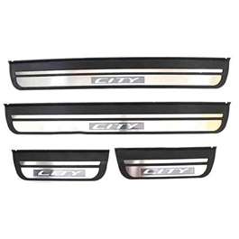 Honda City LED Sill Plates Black Chrome – Model 2006-2008
