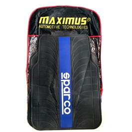 Maximus Sparco PVC Floor Mat Black Blue