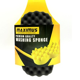 Maximus Double Sponges Black Yellow MX-WS001-SehgalMotors.Pk