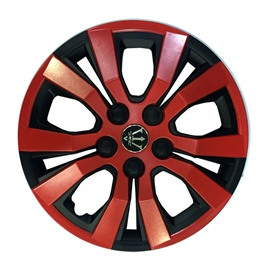 Wheel Cover ABS Black Red 14 Inches - WA4-1RD-14-SehgalMotors.Pk