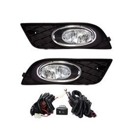 Honda Civic DLAA Fog Lamps Black Chrome HD552 - Model 2012-2016