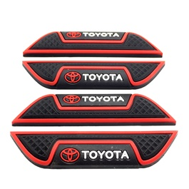 Toyota Door Guards Protector Black and Red | Door Protection | Door Guards | Door Protection Gadget | Side Door Edge Protector-SehgalMotors.Pk