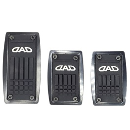 3D DAD Carbon Pedal Cover Manual | Cover Rubber Pedal Protective Cover | Car Styling Non Slip Car Pedal Cover Case-SehgalMotors.Pk