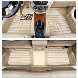 Honda City 5D Floor Mat Carbon fiber Beige - Model 2015-2017-SehgalMotors.Pk
