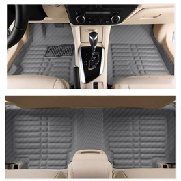 Toyota Corolla 5D Floor Mat Carbon fiber Black - Model 2014-2017-SehgalMotors.Pk
