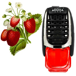 AROMA Supreme AC Dispenser Car Perfume Fragrance - Strawberry-SehgalMotors.Pk