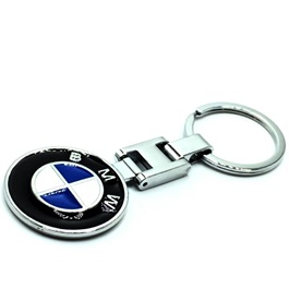 BMW Metal Key Chain / Key Ring Black Chrome-SehgalMotors.Pk