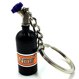 Nos Can Metal Key Chain / Key Ring Black-SehgalMotors.Pk