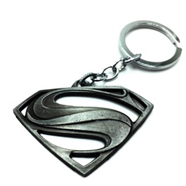 Super Man Metal Key Chain / Key Ring Silver-SehgalMotors.Pk