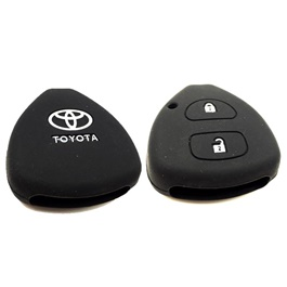 Toyota Vitz PVC / Silicone Protection Key Cover 2 Button - Model 2014-2019