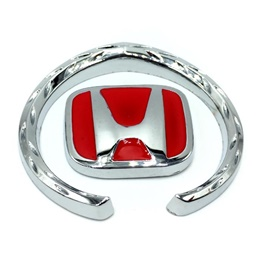 Honda Metal Badge Red Chrome-SehgalMotors.Pk