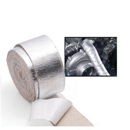 Heat Wrap Chrome Aluminum Foil Material | Car Exhaust Insulation Tapes Manifolds Heat Thermal Wrap | Motorcycle Exhaust Thermal Exhaust Tape Header Heat Wrap Resistant Down Pipe For Motorcycle Car Accessories-SehgalMotors.Pk