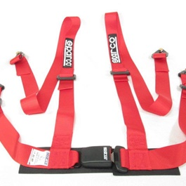 Sparco Seat Belt Red 4 Points