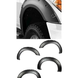 Car Side Fender Flare Extension Universal Black - 4 Pieces-SehgalMotors.Pk