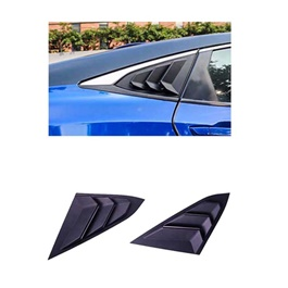 Honda Civic Quarter Glass Rack Lamborghini Style Louver Vents Pair- Model 2016-2021-SehgalMotors.Pk