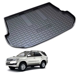 Toyota Fortuner PVC Trunk Mat Tray - Model 2013-2016