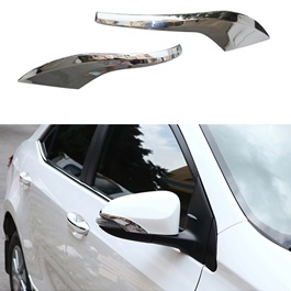 Toyota Corolla Side Mirror Chrome Trims - Model 2017-2018