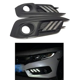 Honda Civic Cut Style Fog Lamps DRL Cover - Model 2016-2019-SehgalMotors.Pk