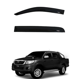 Toyota Hilux Vigo Champ Air press Sun Visors Black - Model 2005-2016-SehgalMotors.Pk