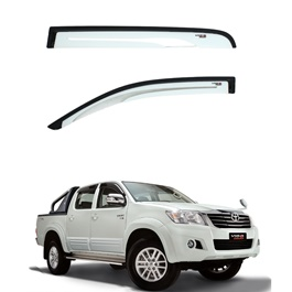 Toyota Hilux Vigo Champ Air press Sun Visors white and Black - Model 2005-2016-SehgalMotors.Pk