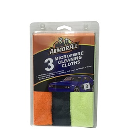 Armor All 3 Microfiber Cloths  | Auto Car Natural Drying Clean Cloth | Cleaning Cloth | Car Cleaning Towels Drying Washing Cloth | Car Care Cloth Detailing Car Microfibre Cloth-SehgalMotors.Pk