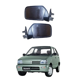Suzuki Mehran Euro II Side Mirrors - Pair | Car Side Mirror | Folding Side View Mirrors Flexible Adjustment | Car Side View Mirror-SehgalMotors.Pk