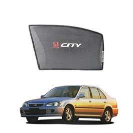 Honda City Side Sunshade / Sun Shades With Logo - Model 2000-2003
