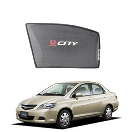 Honda City Side Sun Shades with Logo - Model 2006-2008-SehgalMotors.Pk