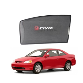Honda Civic Side Sun Shades with Logo - Model 1999-2001-SehgalMotors.Pk