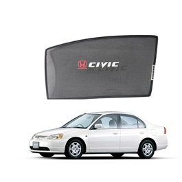 Honda Civic Side Sunshade / Sun Shades with Logo - Model 2001-2004-SehgalMotors.Pk