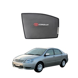 Toyota Corolla Side Sun Shades with Logo - Model 2000-2005-SehgalMotors.Pk