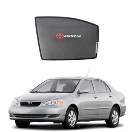 Toyota Corolla Side Sun Shades with Logo - Model 2002-2008-SehgalMotors.Pk