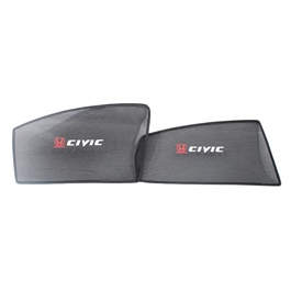 Honda Civic Side Sun Shades with Logo - Model 2017-2019-SehgalMotors.Pk