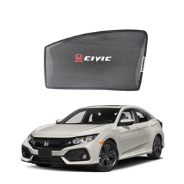 Honda Civic Side Sunshade / Sun Shades with Logo - Model 2017-2019-SehgalMotors.Pk