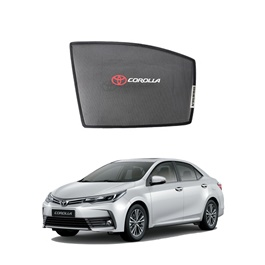 Toyota Corolla Side Sun Shades with Logo - Model 2017-2019-SehgalMotors.Pk