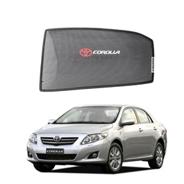 Toyota Corolla Side Sun Shades With Logo - Model 2008-2014
