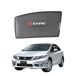 Honda Civic Side Sun Shades with Logo - Model 2012-2016