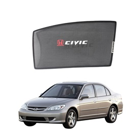 Honda Civic Side Sun Shades with Logo - Model 2004-2006-SehgalMotors.Pk