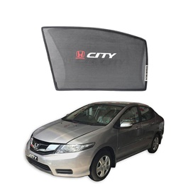 Honda City Side Sun Shades with Logo - Model 2008-2017