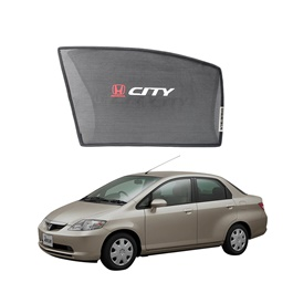 Honda City Side Sunshade / Sun Shades with Logo - Model 2003-2006