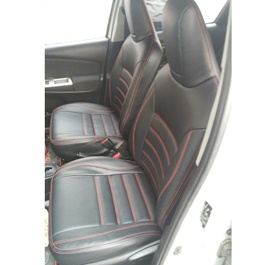 Toyota Corolla Seat Covers Black With Red Stitching in Lines - Model 2017-2019-SehgalMotors.Pk