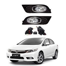 Honda Civic DLAA Fog Lamps / Fog Lights Black Chrome HD552 - Model 2012-2016-SehgalMotors.Pk
