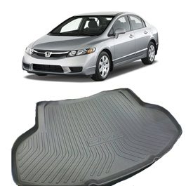 Honda Civic 5D Trunk Mat Style B- Model 2011-2013-SehgalMotors.Pk