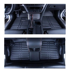 Honda Civic 5D Custom Floor Mat Black - Model 2012-2016-SehgalMotors.Pk