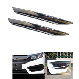 Honda Civic Front Fog Lamps / Fog Lights Chrome Trim - Model 2016-2020-SehgalMotors.Pk