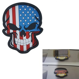 USA Flag Skull Style Dashboard Non Slip / Anti-Skid Mat-SehgalMotors.Pk
