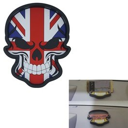 UK Flag Skull Style Dashboard Non Slip / Anti-Skid Mat-SehgalMotors.Pk