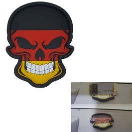 Germany Flag Skull Style Dashboard Non Slip / Anti-Skid Mat-SehgalMotors.Pk